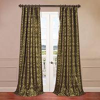 EFF Firenze Flocked Faux-Silk Curtain