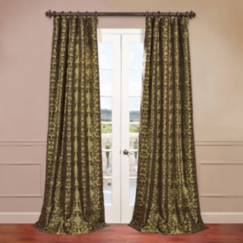 EFF Firenze Flocked Faux-Silk Window Curtain