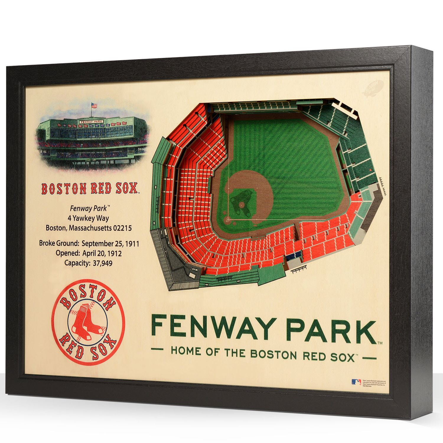 Boston Red Sox StadiumViews 3D Wall Art