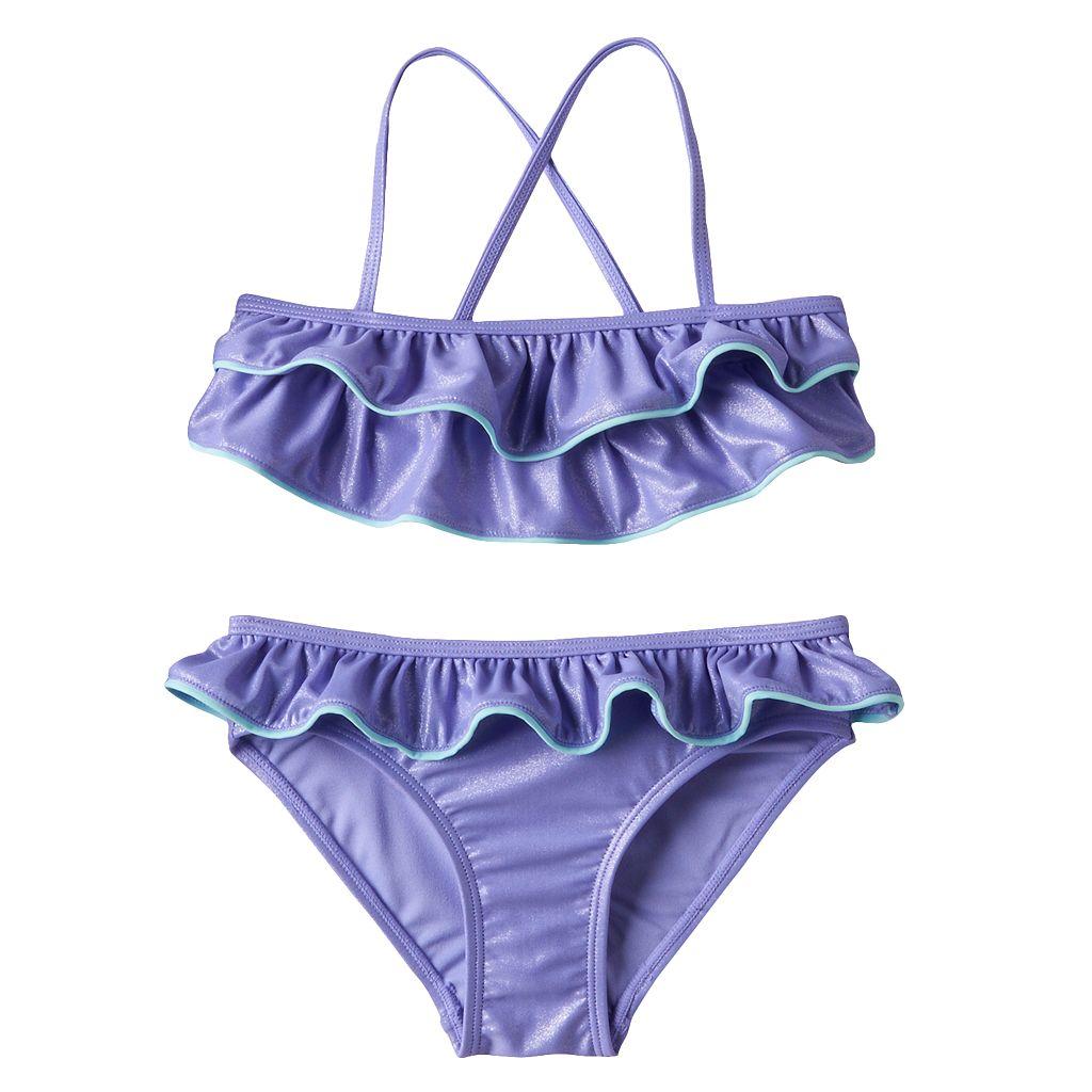 Girls 7-16 SO® Ruffle Bikini Swimsuit Set