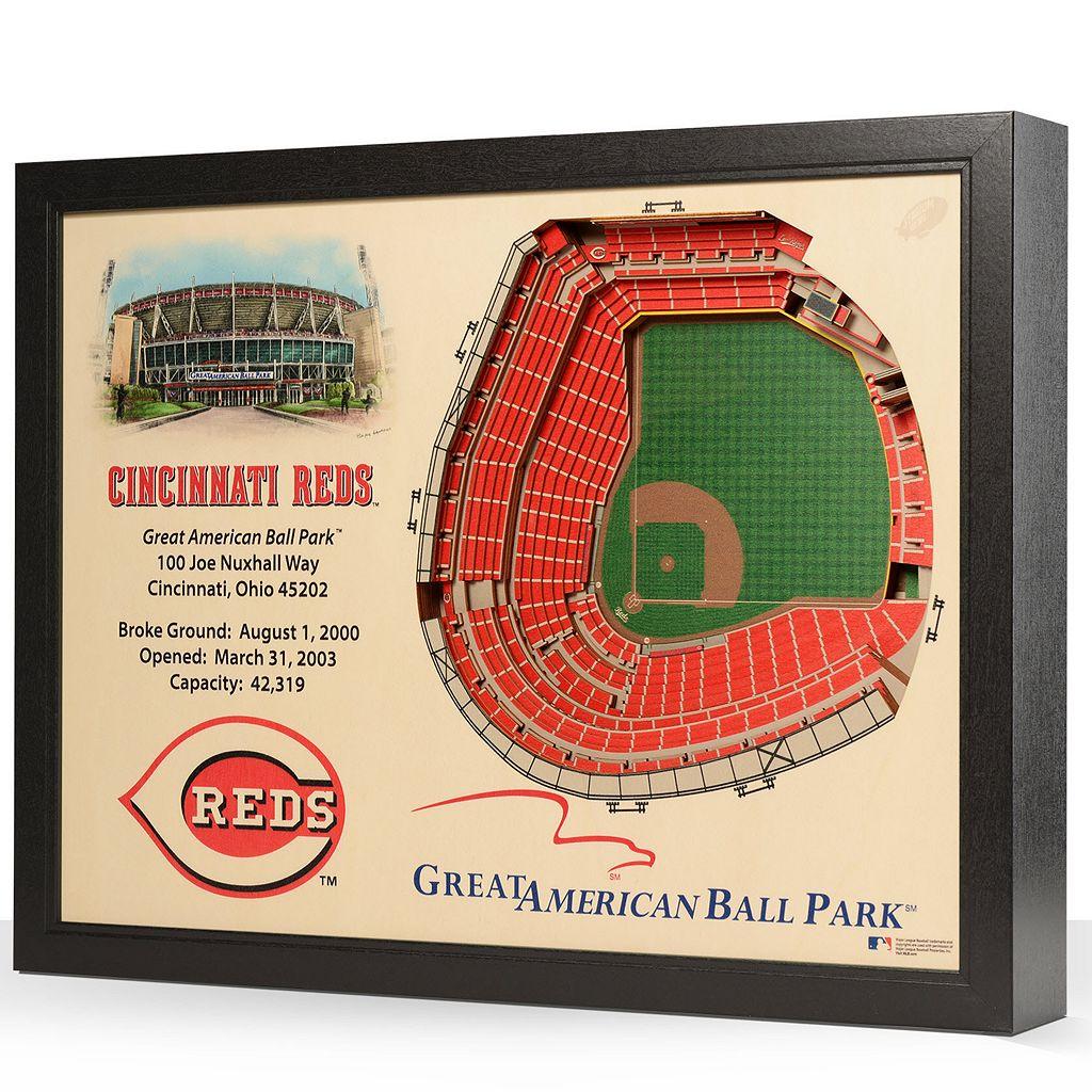 Cincinnati Reds StadiumViews 3D Wall Art