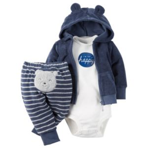Baby Boy Carter's 3-pc. Hooded Cardigan & Pants Set