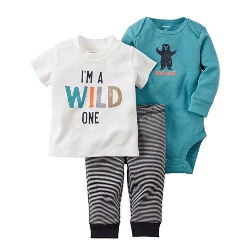 Baby Boy Carter S 3 Pc Bear Bodysuit Amp Pants Set
