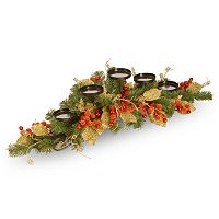 National Tree Company Artificial Berry & Leaf Vine 5-Tier Candle Holder
