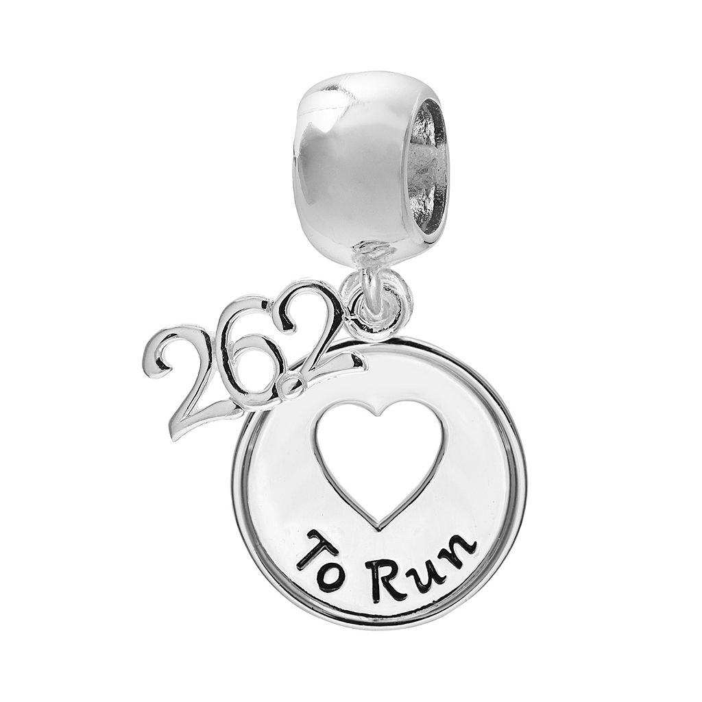 Individuality Beads Sterling Silver Marathon Heart Charm