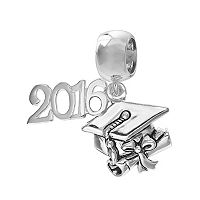 Individuality Beads Sterling Silver 2016 Graduation Charm
