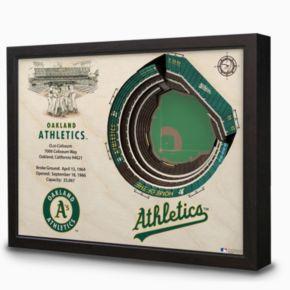 Oakland Athletics StadiumViews 3D Wall Art