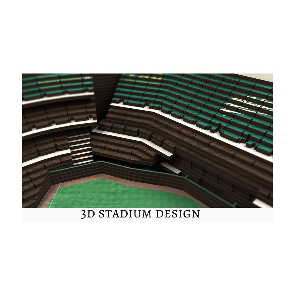 Oakland Athletics StadiumViews 3D Wall Art