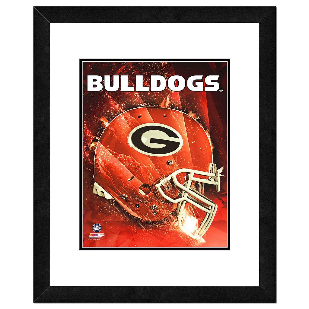 Georgia Bulldogs Helmet Framed 11