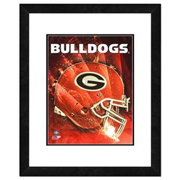 Georgia Bulldogs Helmet Framed 11
