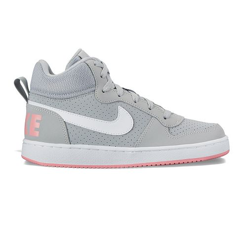 43ebbd49b2206 Nike Court Borough Mid Grade School Girls  Basketball Shoes