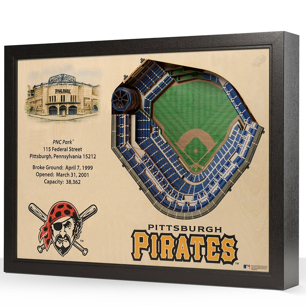 Pittsburgh Pirates StadiumViews 3D Wall Art