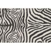 Loloi Kiara Zebra Print Shag Rug