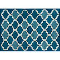 Loloi Brighton Trellis Cobalt Blue Wool Rug