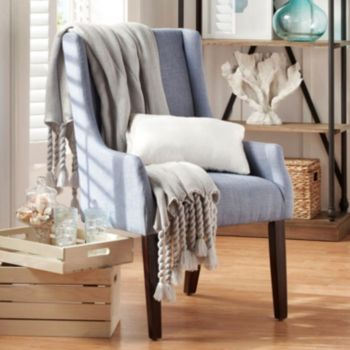 HomeVance Brian Linen Sloped Arm Chair