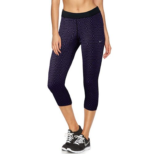 Women's Nike Relay Dri-FIT Foldover Capri Running Tights