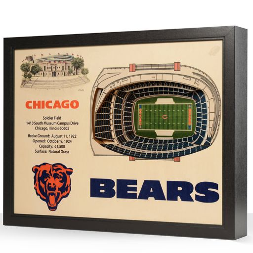 Chicago Bears StadiumViews 3D Wall Art