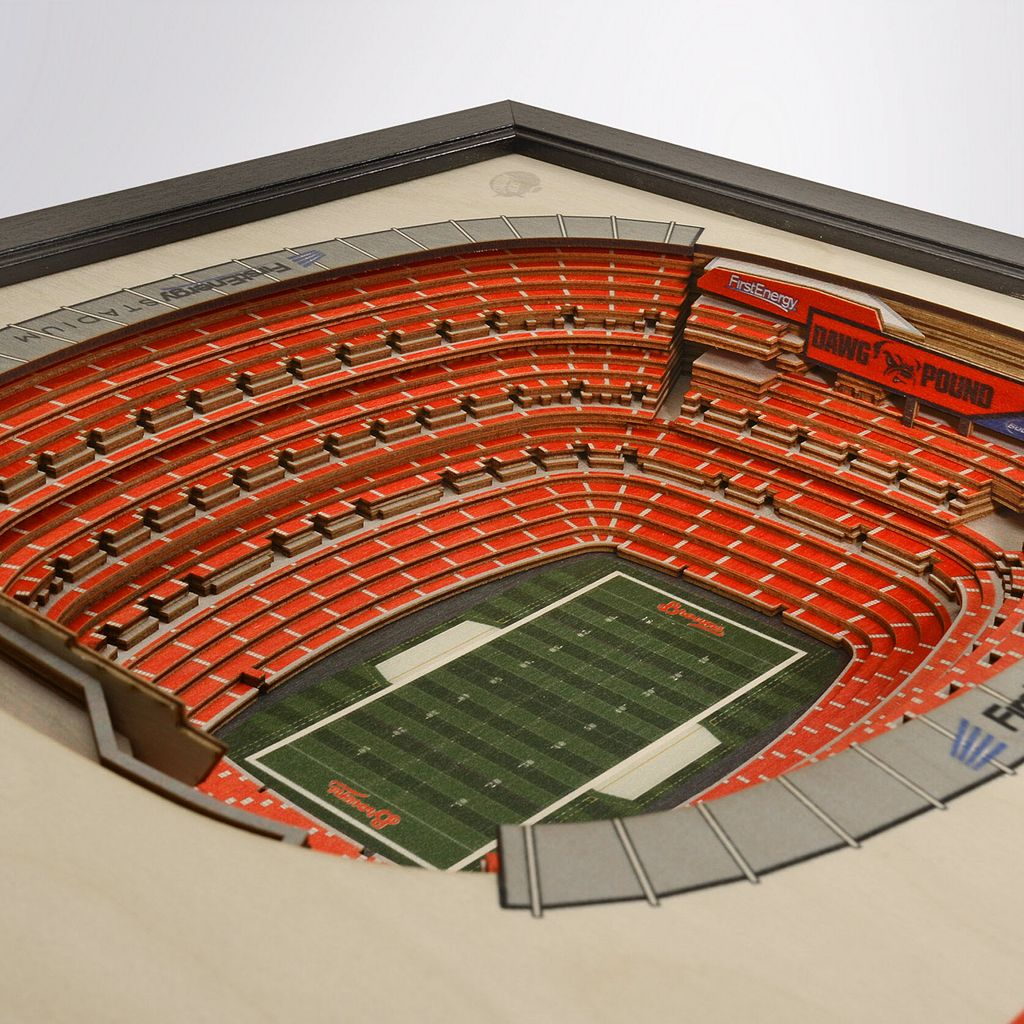 Cleveland Browns StadiumViews 3D Wall Art