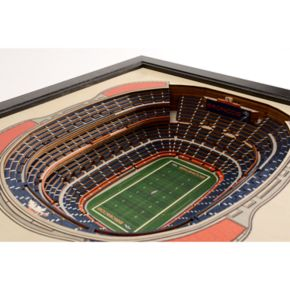 Denver Broncos StadiumViews 3D Wall Art