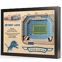 Detroit Lions StadiumViews 3D Wall Art