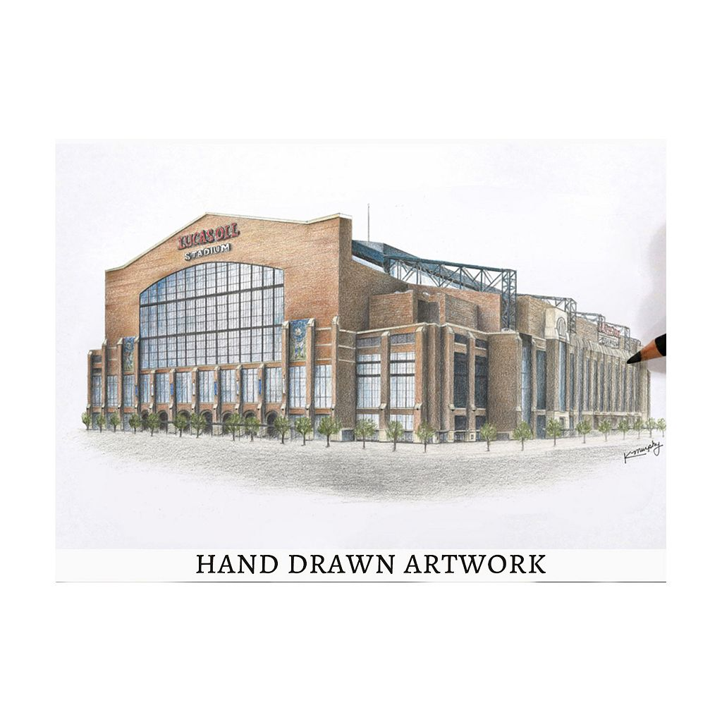 Indianapolis Colts StadiumViews 3D Wall Art