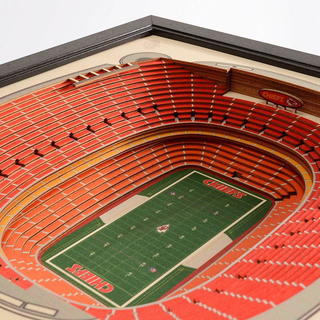 Kansas City Chiefs StadiumViews 3D Wall Art