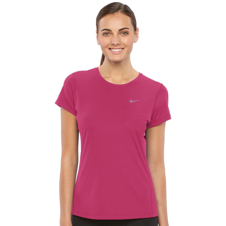 Womens Nike Miler Dri-FIT Crewneck Running Tee