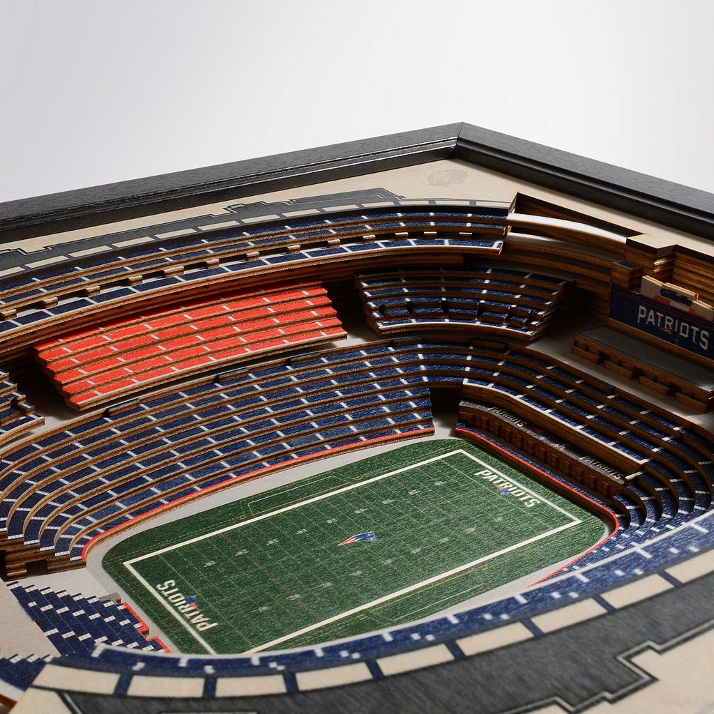 New England Patriots StadiumViews 3D Wall Art