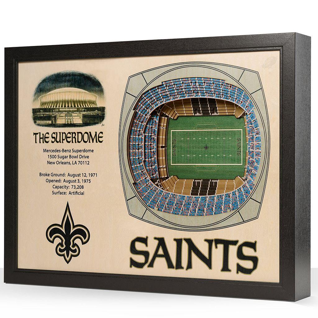 New Orleans Saints StadiumViews 3D Wall Art