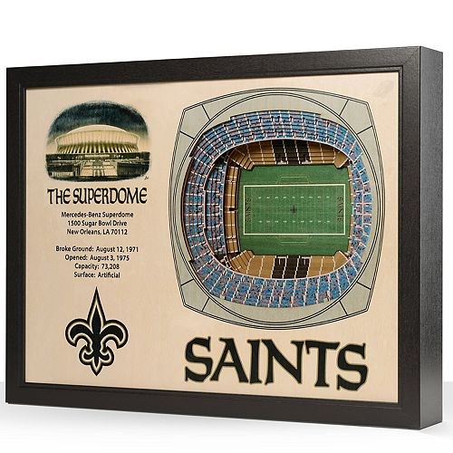 New Orleans Saints StadiumViews 3D Wall Art