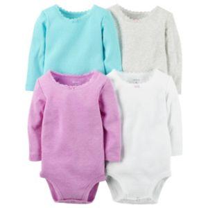 Baby Girl Carter's 4-pk. Solid Bodysuits