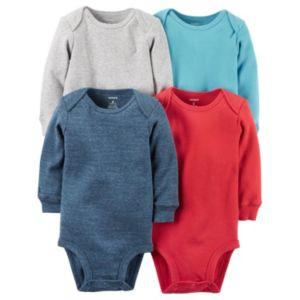 Baby Boy Carter's 4-pk. Solid Bodysuits