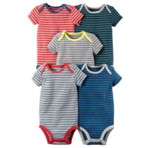 Baby Boy Carter's 5-pk. Striped Bodysuits