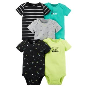 Baby Boy Carter's 5-pk. Space Graphic Bodysuits