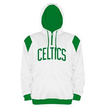 Big & Tall Majestic Boston Celtics Quarter-Zip Hoodie