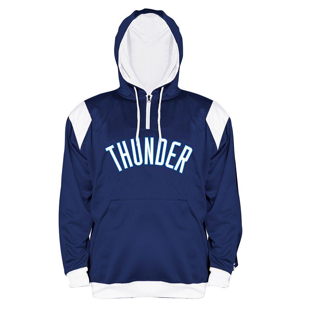Big & Tall Majestic Oklahoma City Thunder Quarter-Zip Hoodie