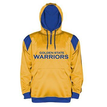 Big & Tall Majestic Golden State Warriors Quarter-Zip Hoodie