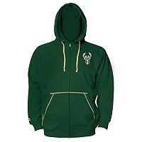 Big & Tall Majestic Milwaukee Bucks Full-Zip Hoodie
