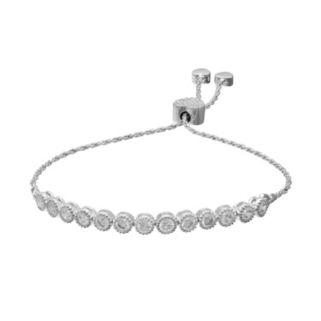 Sterling Silver Cubic Zirconia Lariat Bracelet