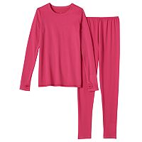 Girls 4-16 Cuddl Duds Comfortech Poly Base Layer Tee & Leggings Set