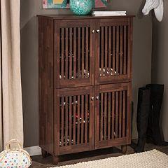 Baxton Studio Fernanda Tall Shoe Storage Entryway Cabinet