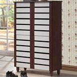 Baxton Studio Gisela Tall Shoe Storage Cabinet