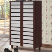 Baxton Studio Gisela Tall Shoe Storage Cabinet