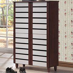 Baxton Studio Gisela Tall Shoe Storage Cabinet  by