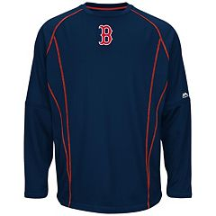 Big & Tall Majestic Boston Red Sox Texture Fleece Pullover