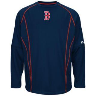 Big & Tall Majestic Boston Red Sox Texture Fleece Pullover