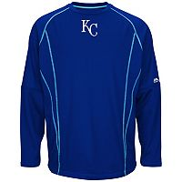 Big & Tall Majestic Kansas City Royals Texture Fleece Pullover