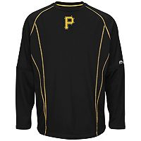Big & Tall Majestic Pittsburgh Pirates Texture Fleece Pullover