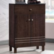 Baxton Studio Felda Modern Shoe Cabinet