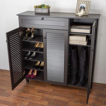 Baxton Studio Pocillo Shoe Storage Cabinet